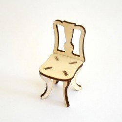 Chaise n°2 miniature 3D en bois à monter