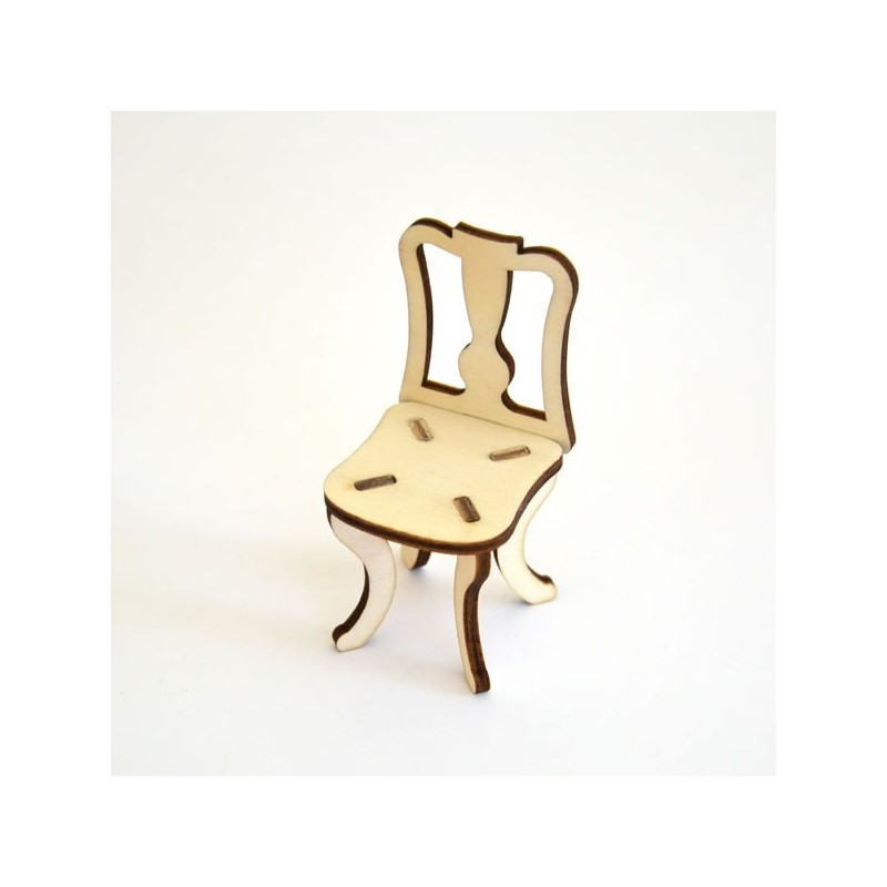 Chaise n°2 miniature 3D en bois à monter
