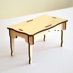 Table miniature 3D en bois à monter