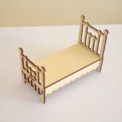 Lit 1 place pour chambre adulte en bois