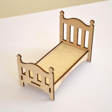 Lit  pour chambre enfant miniature 3D en bois