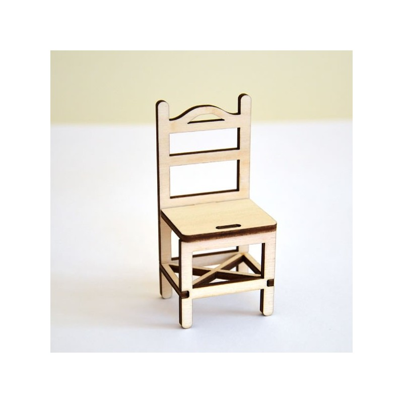 Chaise miniature 3d monter en bois pour d coration ou for Monter sa maison en bois
