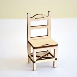 Chaise miniature 3D en bois