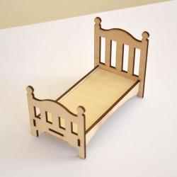 Lit enfant miniature 3D en bois