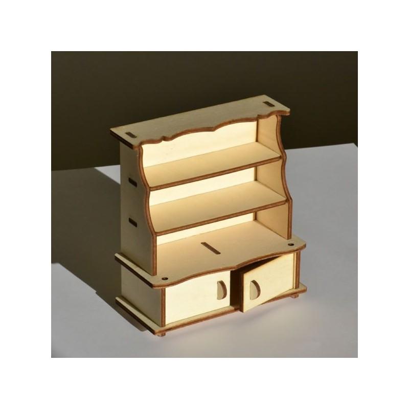 Vaisselier miniature 3D en bois à monter