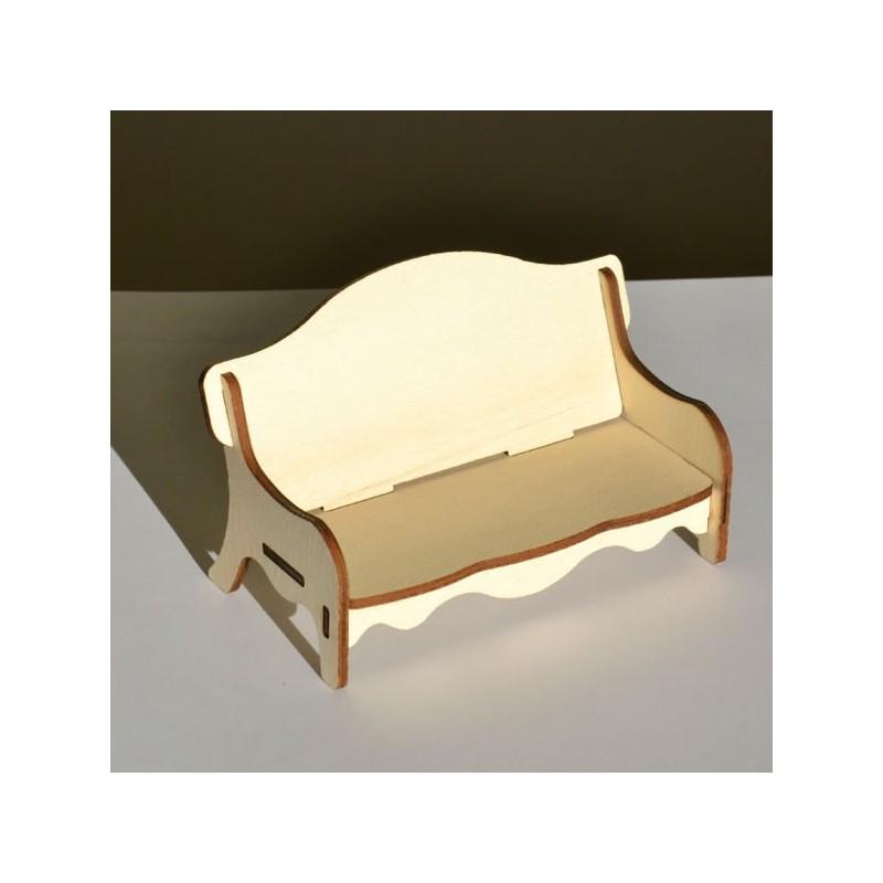 Canapé miniature 3D en bois à monter