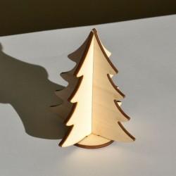 Sapin miniature 3D en bois à monter