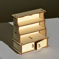 Vaisselier minature 3D en bois