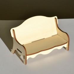 Canapé miniature 3D en bois