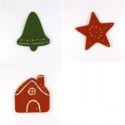 Pack 3 sujets de Noël n°9 en feutrine décorée
