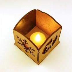 Photophore 3D en bois