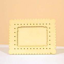 Cadre photo petit beurre, en bois