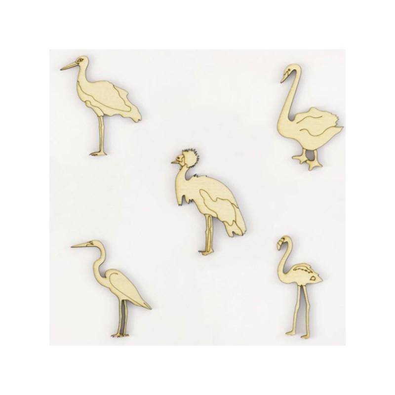 Pack de  5 oiseaux échassiers