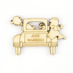 "Voiture ""Just Married""en bois"