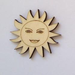 Soleil fleur en bois
