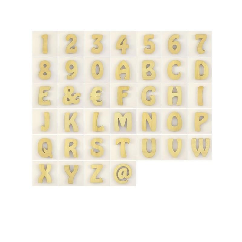 36 lettres chiffres arobase et autre en bois peindre ou pas d corer. Black Bedroom Furniture Sets. Home Design Ideas
