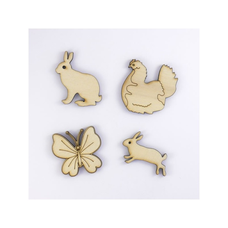 Papillon lapins poule de p ques d co et scrapbooking - Deco de table de paques ...