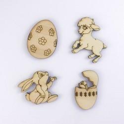 agneau (mouton), oeufs et lapin de Pâques loisir créatif