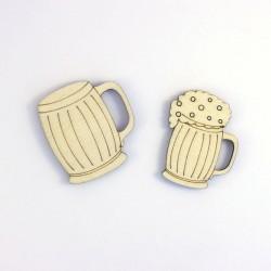 2 chopes de biere