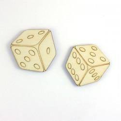 jeu de 2 dés, décoration bois, losiirs créatifs