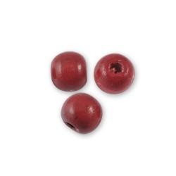 50 Perles en bois 8 mm, divers coloris