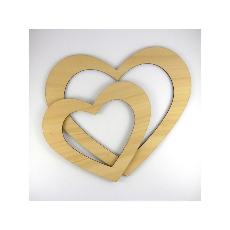 Contour cadre photo coeur en bois peindre - Cadre photo a peindre ...