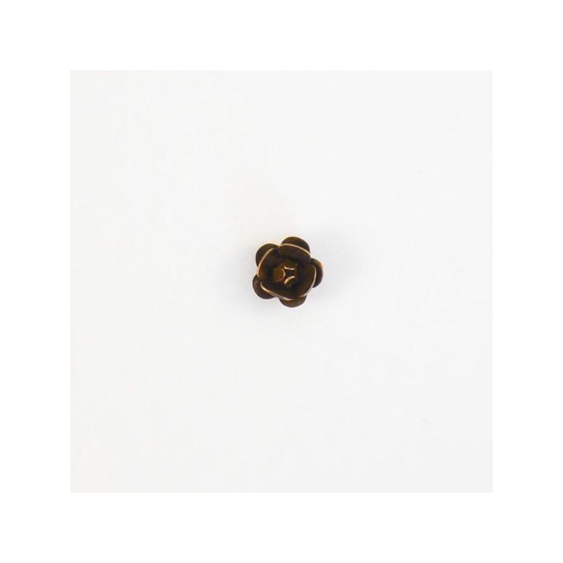 4 accessoires bijou fleur 8 mm cuivre vieilli