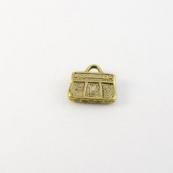 2 Pendentifs sac à main doré