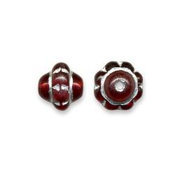 10 perles en verre facettées tchèques 8 mm