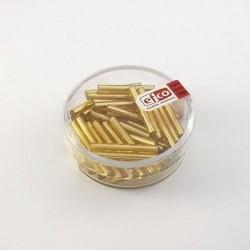 Perles bâtonnets reflet argenté 2 x 20 mm