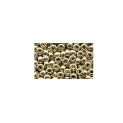 Perles de rocaille ronde tchèque argenté