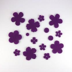 pack fleurs fines et rondes - 30 pièces