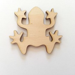 Grenouille en bois, vue dessus, scrap loisir créatif