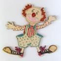 Clown en bois peint - modele unique sur demande