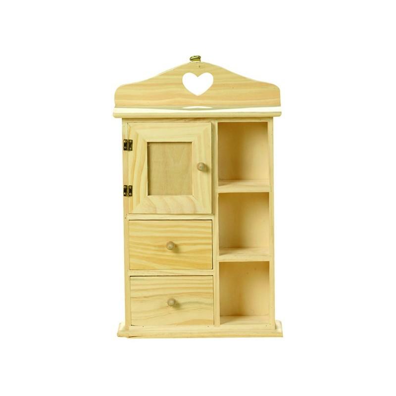 Armoire avec tiroirs casiers cadre photo d corer loisirs for Meuble bois tiroirs casiers