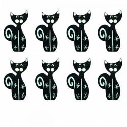 8 chats décorés stickers