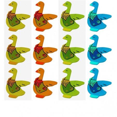 12 oies décorées stickers