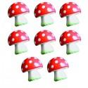 8 champignons en volume décorés stickers