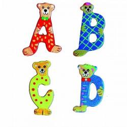26 lettres alphabet en bois...