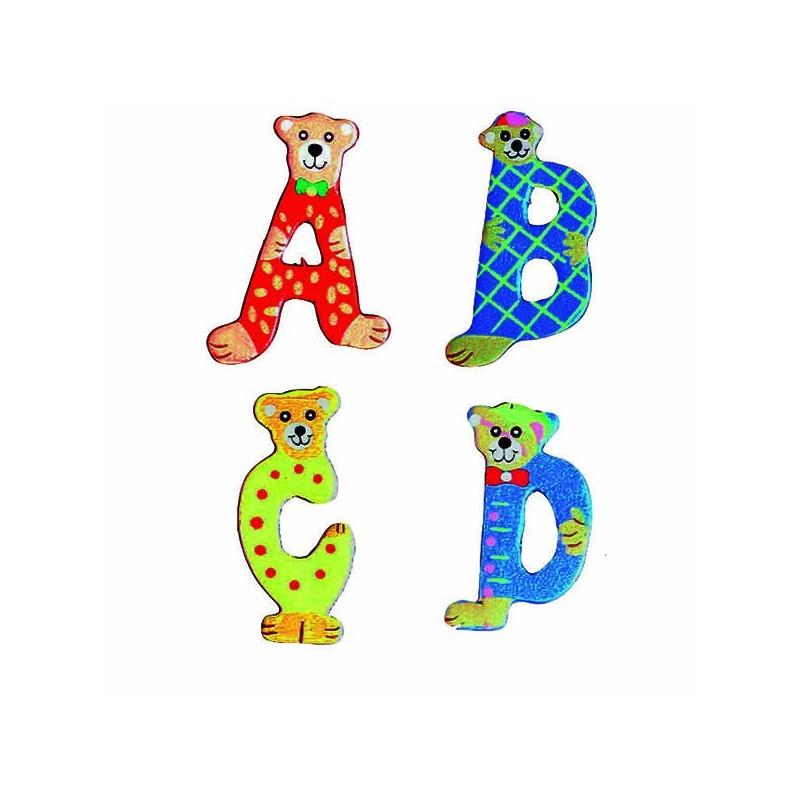 26 Lettres Alphabet En Bois Décorées Animaux