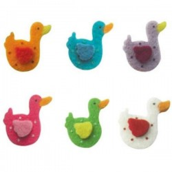 6 canards en feutrine