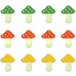 12 champignons décorés...