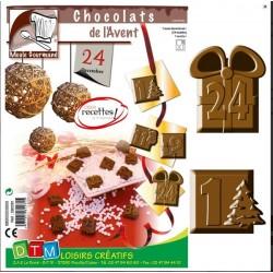 moule à chocolat pour calendrier de l'Avent
