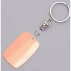 Porte-clefs rectangulaire arrondi cuivre