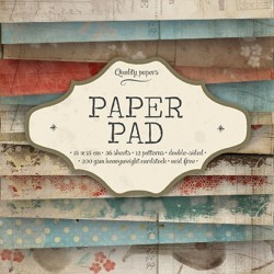 Bloc  paper pad 36 pages 6x6 double face  studio light (bleu, beige, rose)