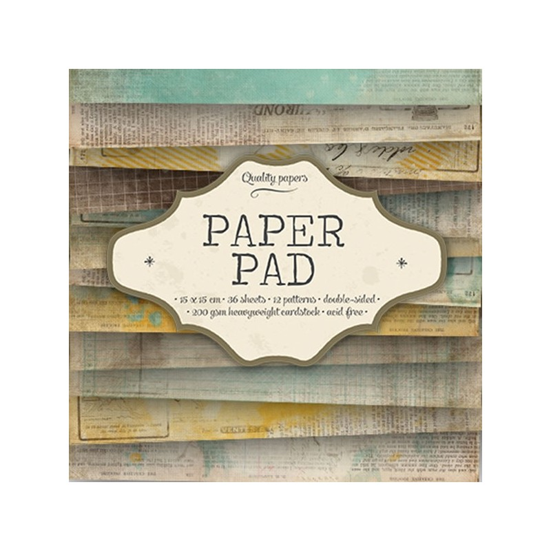 Bloc  paper pad 36 pages 6x6 double face  studio light (verts, rose, orange...)