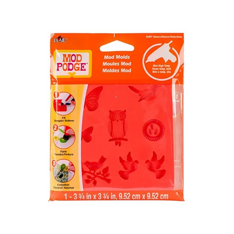 Moule Mod Podge Nature, 8 design