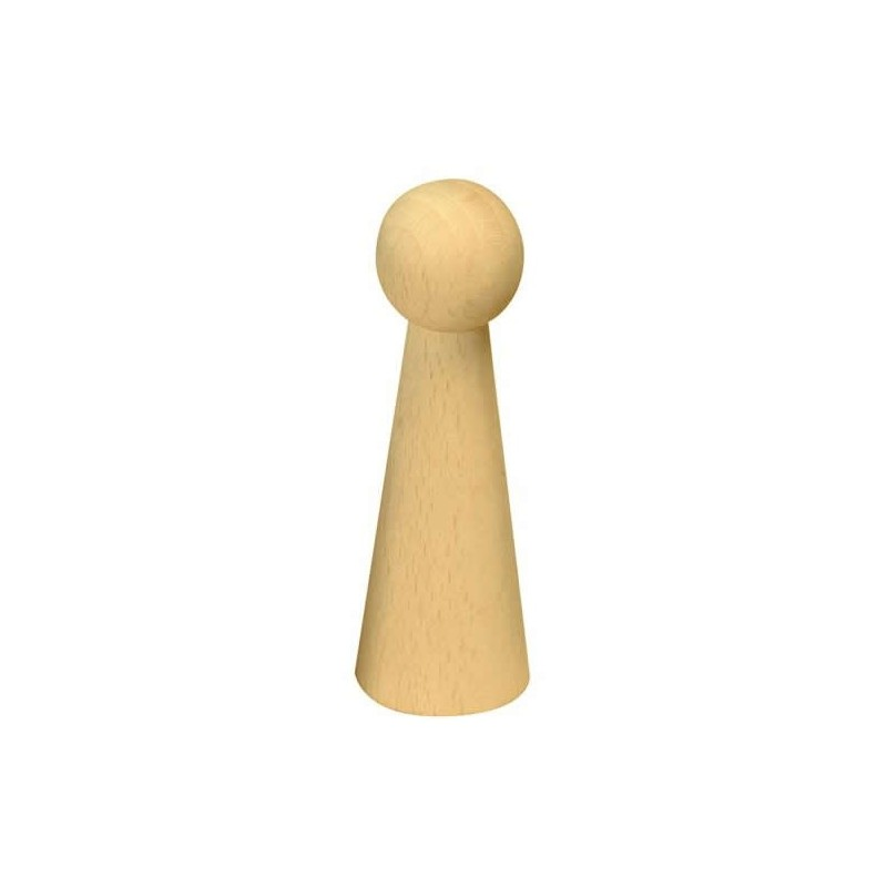 Pion / figurine femme en bois 9 cm