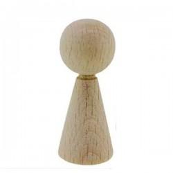 Pion / figurine femme en bois 3.6 cm