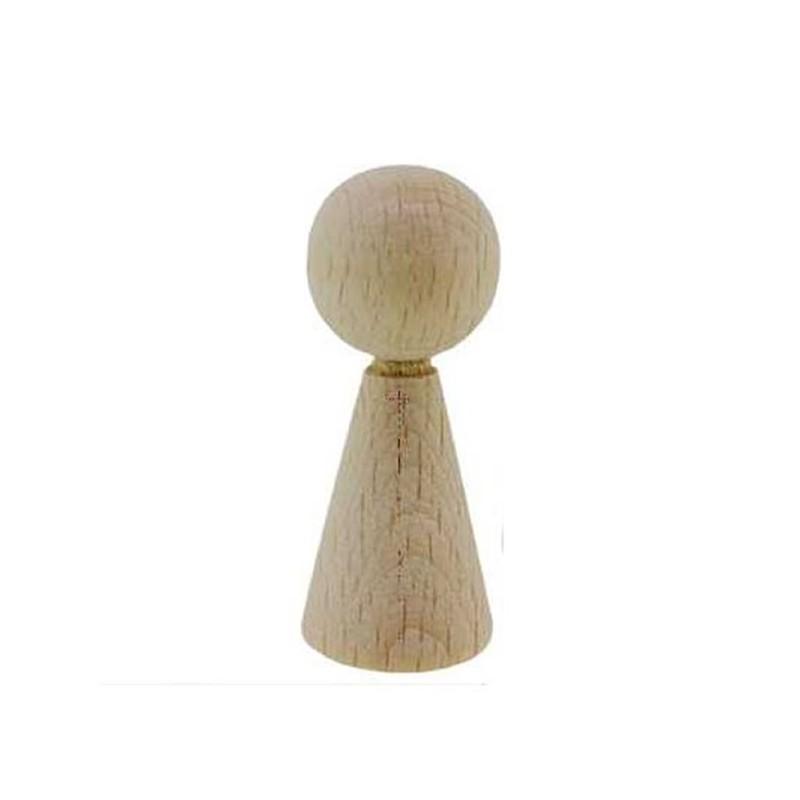 Pion / figurine femme en bois 6 cm